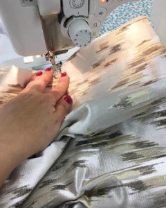 sewing drapery pleat