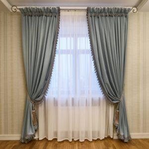 Elegant layered sheers and custom drapery in Dallas