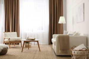 Layered sheers and opaque custom curtains in Dallas